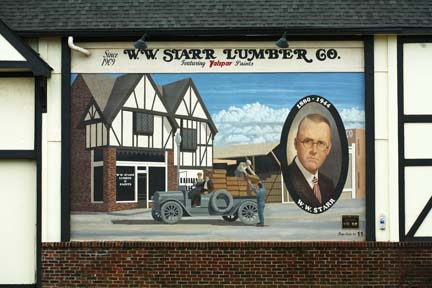 Starr Lumber Co., full mural